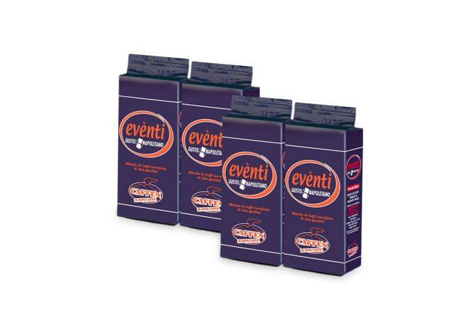 DiCaffè Coffee Blend Eventis 100% Arabica Vacuum Ground 4x 250g