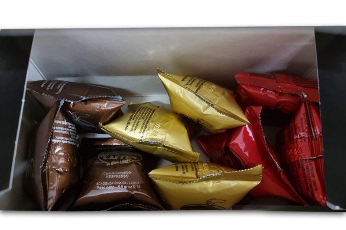 Dicaffè Tasting Box of 100% made in Naples coffee blend: Oro, Classica, Intensa. All Nespresso Compatible.