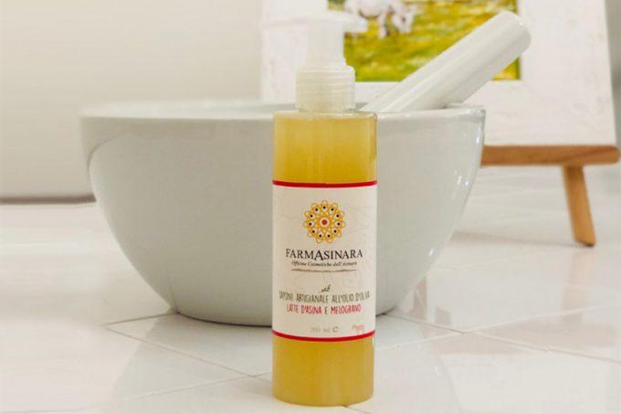 Farmasinada - Flüssigseife mit Olivenöl und Eselsmilch: Melograno 200ml