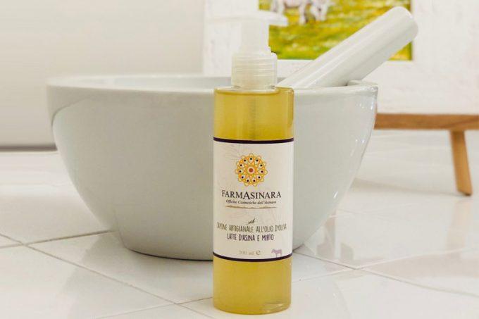 Farmasinada - Flüssigseife mit Olivenöl und Eselsmilch: Mirto 200ml
